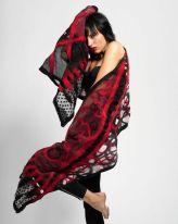 Barbara Poole felted silk and wool shawl