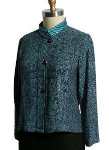 Handwoven Mandarin jacket.  100% bamboo