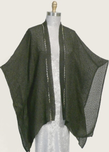 Handwoven Butterfly Jacket with neutral trim