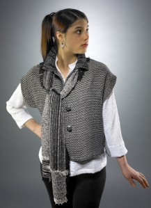 Bamboo Vest with Lisa Scarf