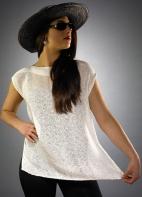 Ivory Cap Sleeve Top