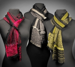 Scarves: Red, Black & White, Lime