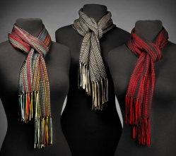 Ribbon Scarves: Fiesta, Natural, Red