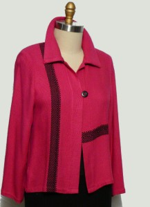 Raspberry Band, Handwoven 100% bamboo jacket
