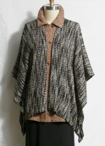 Handwoven Ren Jacket over long bamboo jacket