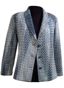 Shawl Collar Honeycomb Jacket