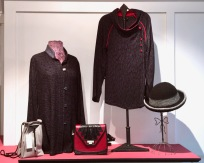 Dahlia handwoven bamboo jackets and Greg Roche and Marc Levine handbags