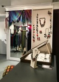 Clara Borbas jewelry and Rebecca Noble handwoven shawls