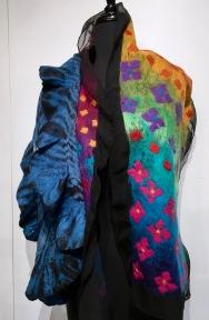 Barbara Poole and Carol Furtado silk and wool felted shawls
