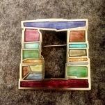 Carly Wright enameled pin